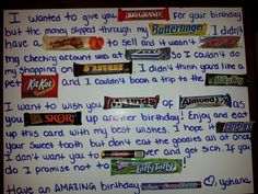 Made this for my boo! #boyfriend #gift #card #diy #candy #birthday