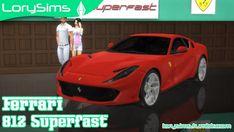 Lory Sims: Ferrari 812 Superfast • Sims 4 Downloads  Check more at http://sims4downloads.net/lory-sims-ferrari-812-superfast/