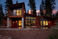 sagemodern prefab home - Truckee, exterior from rear.