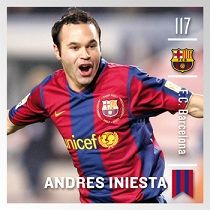 Andrés Iniesta. Digital trading card of the iCroms.com FC Barcelona collection
