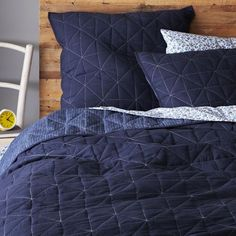Nomad Coverlet + Shams from west elm