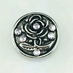 Flower Chunk Snap Button Charm NWOT 4 for $12~Add your favorites to a bundle and I will create a listing Jewelry Bracelets