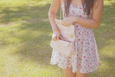 #dress #clutch #flowers #pretty
