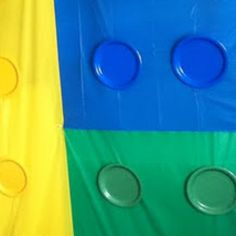 LEGO'S is what i see! :))  Plastic table cloths and plates = awesome
