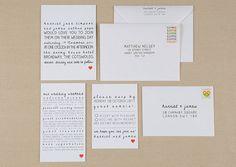 Etsy - Simple Heart Modern Wedding Invitations