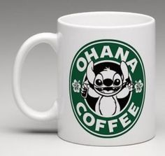 Starbucks Disney Inspired Lilo and Stitch Ohana Coffee Mug Tea Cup