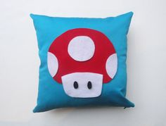 Geekery Pillow Cover Super Mario inspired by PurpleTentacleShop, $32.00