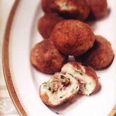 Meat-Stuffed Potato Croquettes Recipe - Saveur.com Spanish version of Bengali Chops