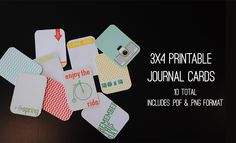Thank the Mojo--  10 FREE 3x4 Journaling Cards    {.png & .pdf format}