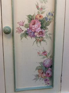 Painted furniture on pinterest dark wax annie sloan and - Puertas pintadas a mano ...