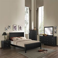 Black furniture - Homelegance Harris Bedroom