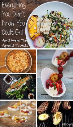 Fire up the grill! A total and complete list of things you can grill but didn't know that you could! Pizza, fruits, avocados, the works! Get the full list (and how to!) here: http://www.ehow.com/feature_12231913_everything-didnt-could-grill-were-afraid-ask.html?utm_source=pinterest.com&utm_medium=referral&utm_content=curated&utm_campaign=fanpage