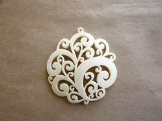 Vintage Carved Lace Pendant on Etsy, $40.00
