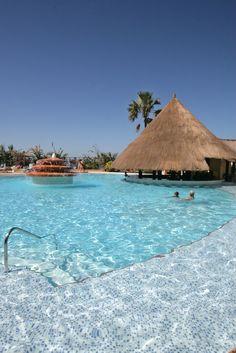 Senegambia Hotel's main swimming pool by the beach