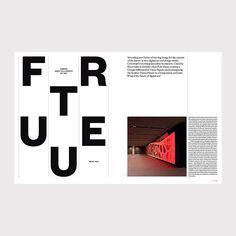 Mr. Pyke FU TU RE Elephant 27 #elephantmagazine #magazinedesign #layout…