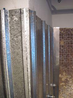 Galvanized Shower Surround: A Complete How-To – Bungalow Bungahigh Galvanized Shower, Galvanized Metal, Galvanized Decor, Galvanized Buckets, Shower Basin, Bathtub Shower, Tin Shower Walls, Shower Alcove, Bathtub Decor