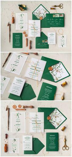 Greenery Botanical Wedding Invitations 10BBNz #weddings #weddingideas #invitations #vintage #vintageweddings ❤️ http://www.deerpearlflowers.com/botanical-wedding-inviations-from-4lovepolkadots/