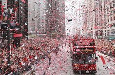 Chicago celebrates the Stanley Cup  ( Antonio Perez, Chicago Tribune / June 11, 2010 ) I was driving through the celebration with my Dad. it was crazy!