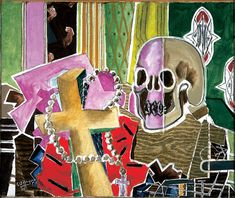 """The skull, cross and rosary are typically Catholic symbols, suggesting that the subject of """"Vanitas I"""" is mortality and faith. But Georges Braque, its painter, insisted otherwise. Monet Paintings, Art Blog, Catholic Symbols, Vanitas, Painting, Painting Subjects, Life Art, Christian Art, Modern Christian Art"""