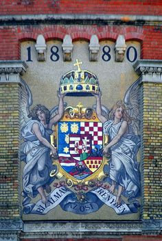 The giant coat of arms - Budapest - Hungary Hungarian Tattoo, Budapest Guide, Capital Of Hungary, Budapest Travel, Heart Of Europe, Budapest Hungary, My Heritage, Coat Of Arms, Graffiti