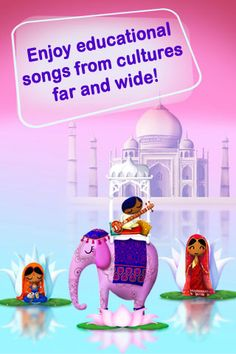 Kids Song Machine 2 - Around the World offers a fantastic interactive tour through the most beautiful places in the world that will delight the smallest children at home.