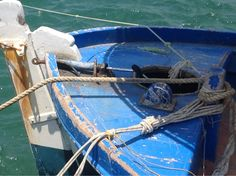 Washed Blue Boat - Hersonnisus Harbour - Crete