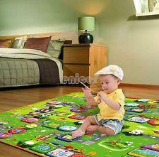 bebé niños juegan mat rastreo juego estera manta alfombra 200 * 180 CM