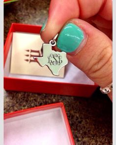 Monogrammed texas charm from james Avery. Why do I not have this yet??