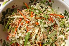 A delicious summer salad that sings with Asian flavours! Asian Coleslaw with Citrus and Almonds | Insulin Resistance Diet Recipes