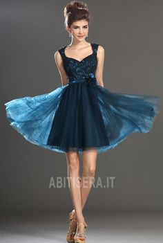 c795c4866ad0 Knee Length Zipper Up Tulle A-Line Pear Hourglass Romantic Accented Roset  Prom  Cocktail