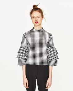 GINGHAM CHECK TOP-View All-TOPS-WOMAN | ZARA United States