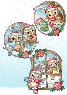 Christmas Topper, Christmas Drawing, Christmas Animals, A Christmas Story, Christmas Pictures, Christmas Art, Diy Christmas Decorations Easy, Image 3d, Pintura Country