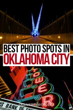 Looking for the most Instagrammable places in Oklahoma City? From the canal to iconic bridges to plenty of cafes, here are where to take the best photos in Oklahoma City! OKC Instagram | Oklahoma City Photos | Photo Spots in Oklahoma City | Where to Take Photos in Oklahoma City | Instagrammable Places in Oklahoma City | Oklahoma City Instagram Spots | Instagrammable Spots in Oklahoma City | Oklahoma City Photo Spots | OKC Photo Spots | OKC Instagrammable Place | OKC Photography | OKC… Usa Travel Guide, Travel Usa, Travel Guides, Visit Usa, International Travel Tips, United States Travel, Oklahoma City, Cool Places To Visit, Trip Planning