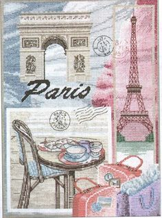 (1) Gallery.ru / Foto # 1 - Viaje a París - DELERJE  I love this.!!! The pattern is available in black and white as well as in color.