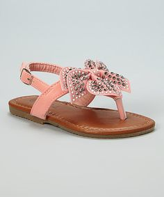 C-U-T-E!!  Coral Stud Julia Sandal by QQ Girl  For Aleeyah ... size 7 (in 'Toddler Girl' please and thank you!)