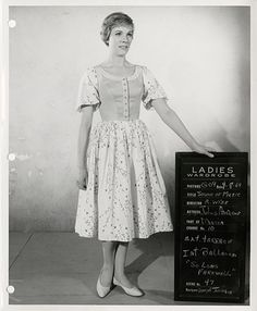 Collection of (12) 20th Century-Fox wardrobe-test photos including (2) extremely rare Julie Andrews tests from The Sound of Music.  Hollywood Auction 62 / December 21, 2013  https://www.profilesinhistory.com/auctions/hollywood-auction-62/