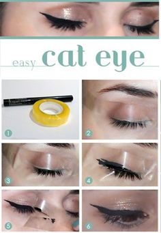 use tape for a cat eye - genius