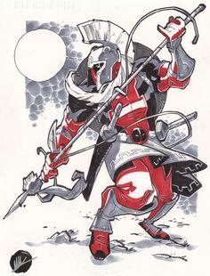 Roman Deadpool ~ Sketch 242 - C2E2 by *MatteoScalera on deviantART
