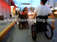 Sometimes sidewalks are not #accessible. #wheelchair #travel>>> See it. Believe it. Do it. Watch thousands of spinal cord injury videos at SPINALpedia.com