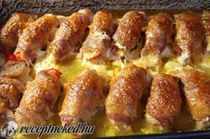 Érdekel a receptje? Kattints a képre! Meat Recipes, Chicken Recipes, Dinner Recipes, Cooking Recipes, Hungarian Cuisine, Hungarian Recipes, Food Platters, Pork Dishes, Sweet And Salty