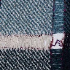 Anna Sui Balsam Fringe-y Bold Plaid Wool Panel