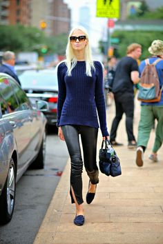 Sasha Luss after Tory Burch, New York, September 2013