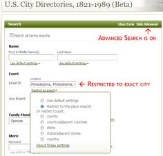 The History Chick provides some excellent advice for searching Ancestry.com City Directories. #genealogy