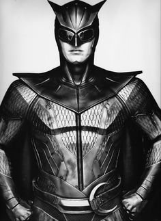 Patrick Wilson in costume as Nite Owl II on the set of Watchmen, 2009…