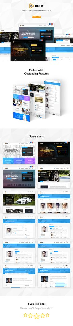 Tiger Corporate Social Network Template By Directorythemes On Themeforest Is A That Ideal For Connecting