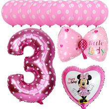 13 Pz Rosa Blu Di Mickey Minnie Del Bambino Di 3 Anni Di Eta Festa Di Complean Compleanno Con Palloncini Feste Di Compleanno A Tema Ragazze Feste Di Compleanno