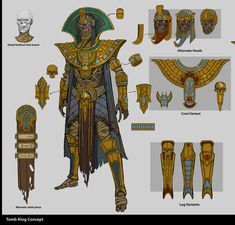 There was a time when the ancient kingdom of Nehekhara stood as a crown of human civilisation; Warhammer Tomb Kings, Warhammer Fantasy, Character Concept, Character Art, Character Design, Dark Fantasy Art, Fantasy Rpg, Egypt Concept Art, Ronin Samurai