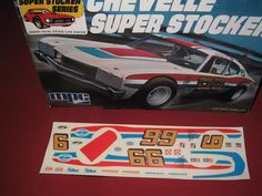 Plastic Model JUNKYARD Chevelle Super Stocker Box, Instructions, decals,parts Hobby Kits, Car Racer, Plastic Models, Boxing