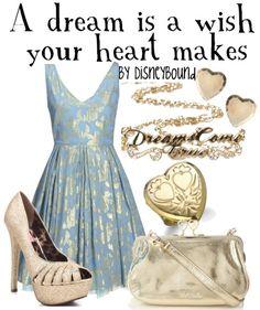I am in LOVE with disneybound outfits! The shimmering gold on the blue is BREATHTAKING! Disney Outfits, Disney Dresses, Cute Outfits, Disney Clothes, Moda Disney, Bon Look, Disney Inspired Fashion, Disney Fashion, Estilo Disney