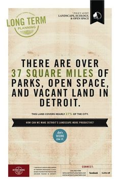 There are ver 37 square miles of parks, open space, and vacant land in detroit. I want to make one for Pittsburgh Vacant Land, Rosa Parks, Urban Renewal, Working On It, Detroit, It Works, This Or That Questions, How To Plan, Pittsburgh